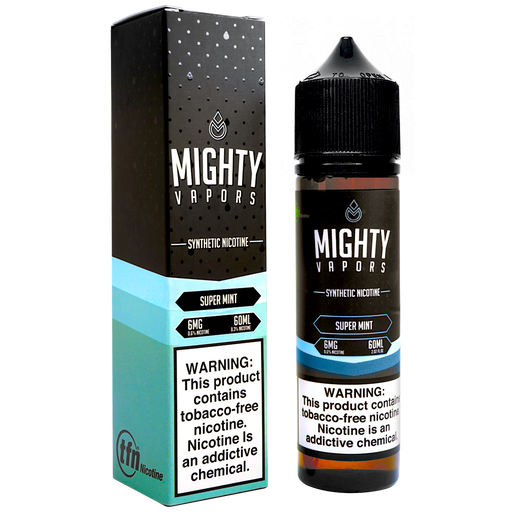 Super Mint Synthetic Nicotine (TFN) By Mighty Vapors E-Liquid (60ml)