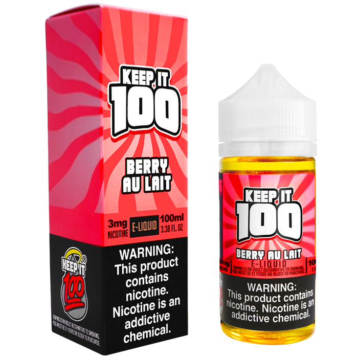 Berry Au Lait by Keep It 100 E-Liquid (100ml)