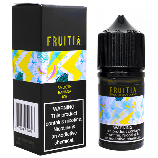 FRUITIA Smooth Banana ICE Salt Nic by Fresh Farms E-Liquid (30ml)