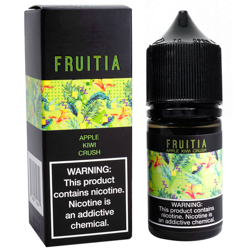 FRUITIA Apple Kiwi Crush Salt Nic by Fresh Farms E-Liquid (30ml)