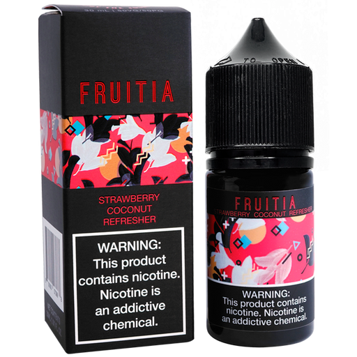 FRUITIA Strawberry Coconut Refresher Salt Nic by Fresh Farms E-Liquid (30ml)