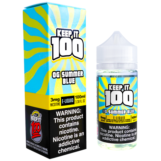 OG Summer Blue by Keep It 100 E-Liquid (100ml)