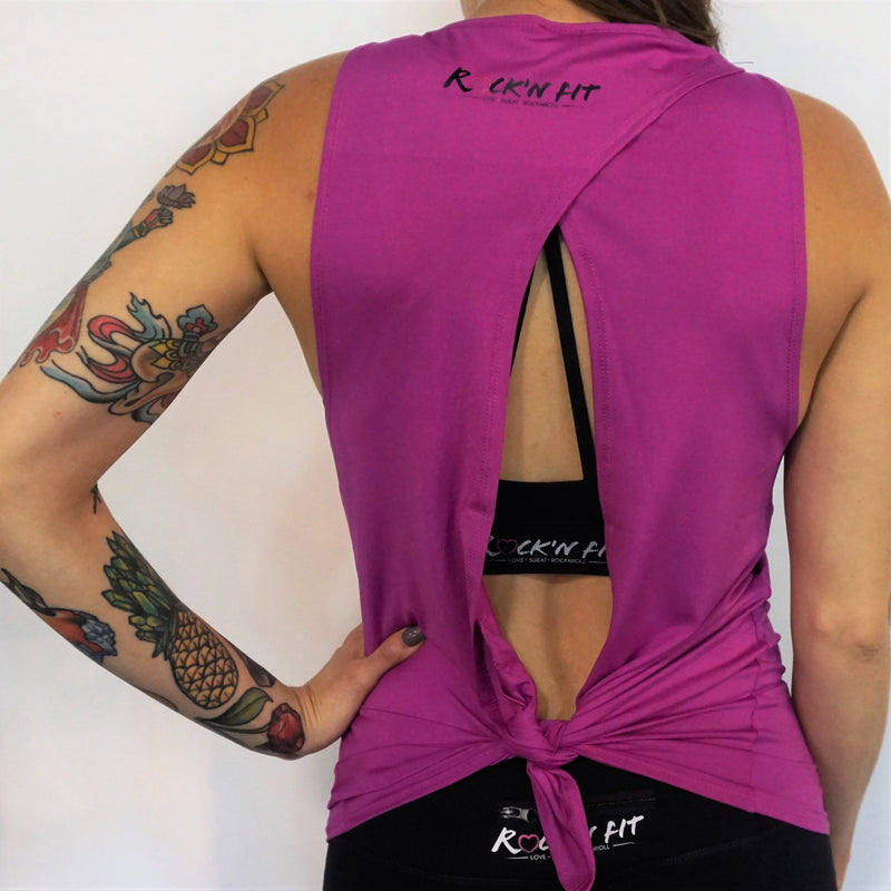 Badass Backless Tank Top - Purple