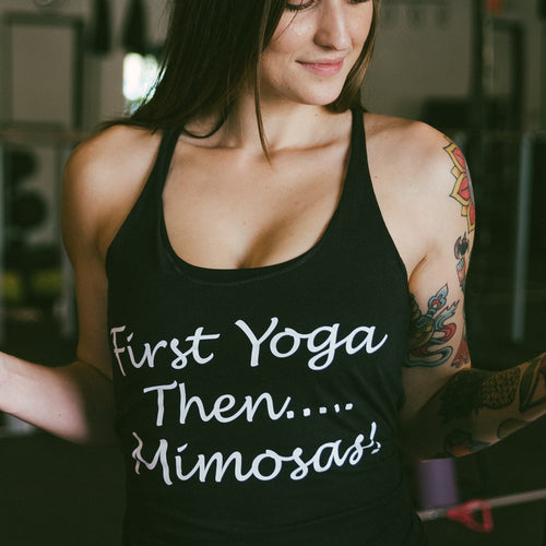 First Yoga Then.... Mimosas