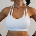 Double T Strap Sports Bra - White - Only 3 left!!!