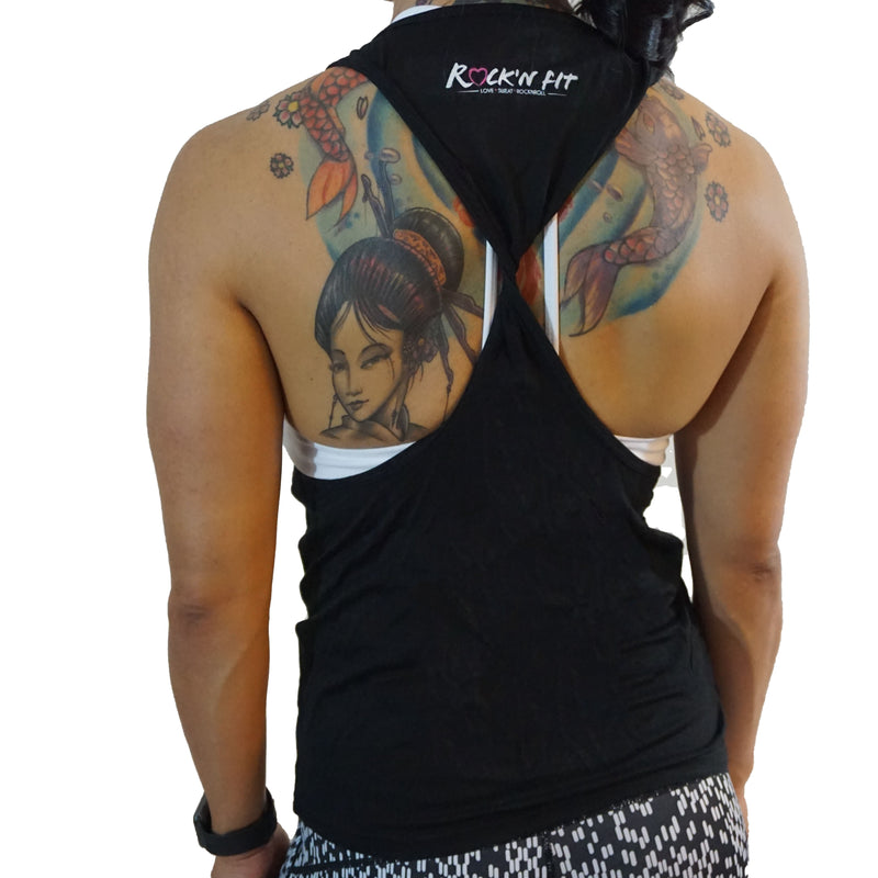 Deeply Sick and Twisted Back Tank - Black