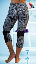 Rock'n Checkered Mesh Yoga Pant Black/White - Only 3 left!!