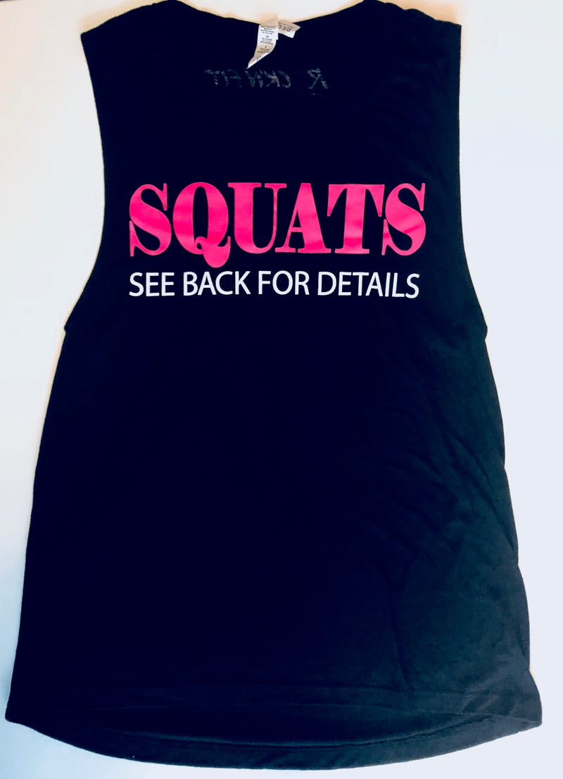 SQUATS Muscle Tank - Black - #1 Selling Style