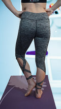 Twisted Side Tie Yoga Pant Grey - Only 3 left!!!