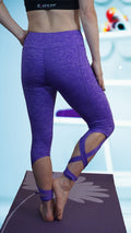Twisted Side Tie Yoga Pant Purple