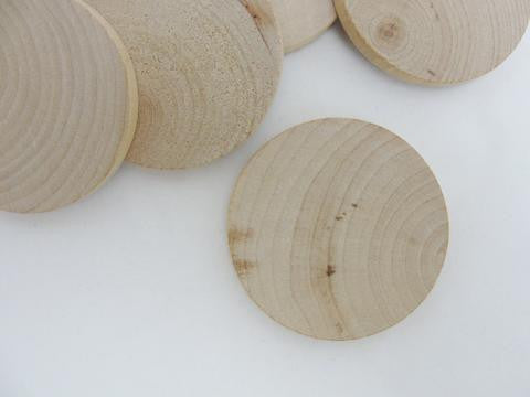 "Wood 2 inch Circle, wood disc, wooden disk 2"" x 1/4"" thick unfinished DIY - Wood parts - Craft Supply House"