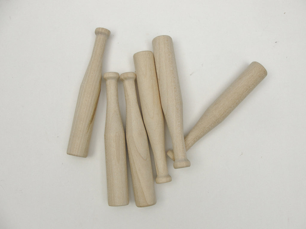 "4"" miniature baseball bat set of 6 - Wood parts - Craft Supply House"