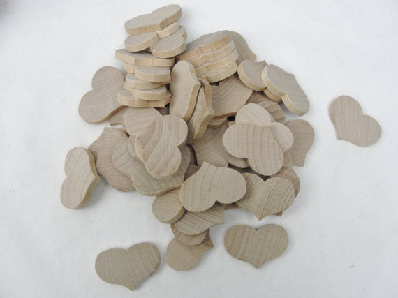 "Wooden country hearts 2 1/4"" wide 1 11/16"" tall 1/4"" thick unfinished - Wood parts - Craft Supply House"