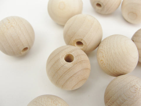 "Unfinished Round Wooden bead  3/4"" (.75"") 20mm"