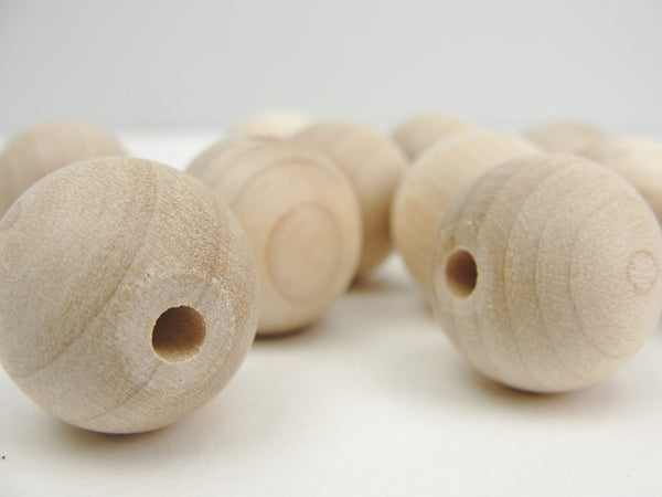 "Unfinished Round Wooden bead  3/4"" (.75"") 20mm - Wood parts - Craft Supply House"