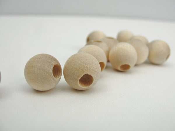 "Wooden round bead 3/8"" (.41"") 10mm with 5/32"" hole - Wood parts - Craft Supply House"