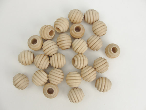 "3/4"" Wooden beehive beads with a 5/16"" hole - Wood parts - Craft Supply House"