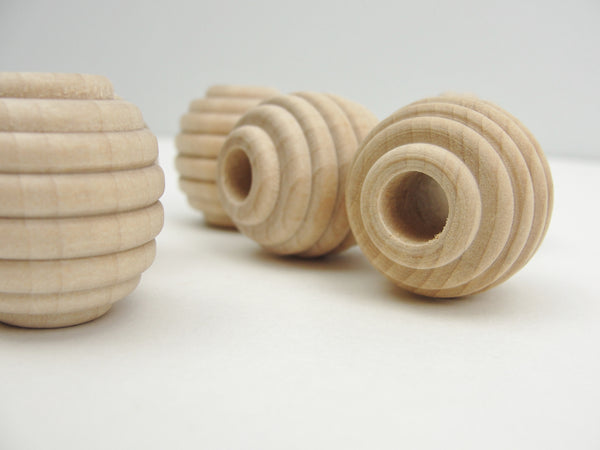 "Wooden beehive beads 1"" x 1"" with a 5/16"" hole - Wood parts - Craft Supply House"