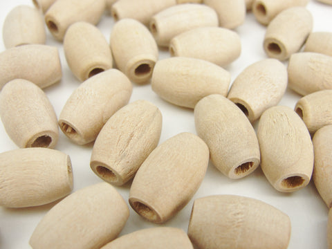 "Wooden oval beads 9/16"" x 3/8"" with a 5/32"" hole"