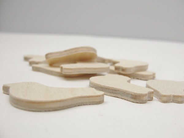 "Miniature bird wood unfinished 11/4"" x 1/8"" set of 12 - Wood parts - Craft Supply House"