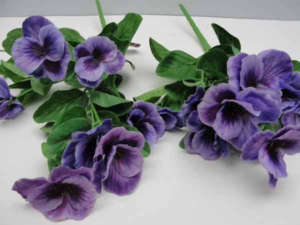 Pansy bush 7 stems floral supplies - Floral Supplies - Craft Supply House