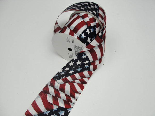 Patriotic red white and blue floral ribbon - Floral Supplies - Craft Supply House