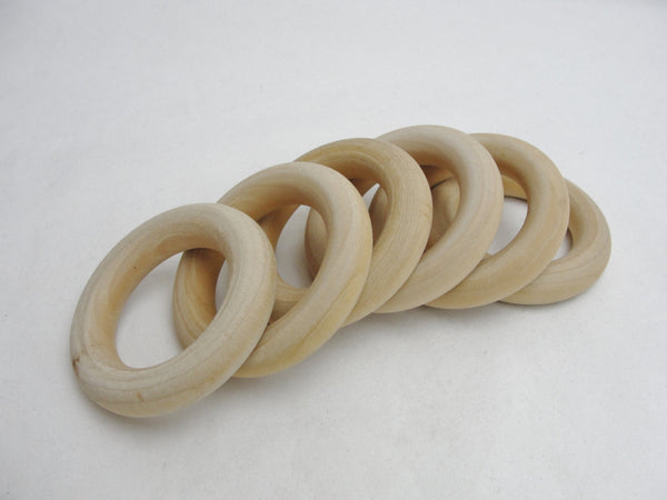 "6 Wooden rings 2 1/2"" with 1 1/2"" inside dimension - Wood parts - Craft Supply House"