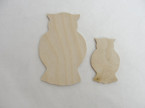 Small owl cutouts set of 4 - Wood parts - Craft Supply House