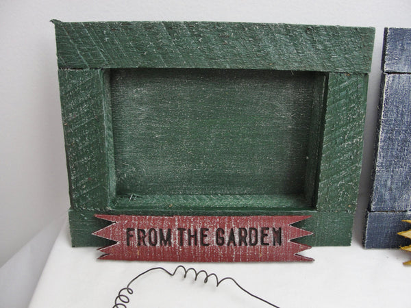 Rustic wooden shadow box frame in green, blue or maroon - General Crafts - Craft Supply House