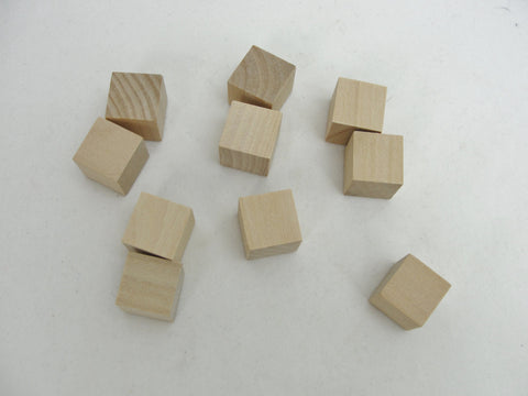 "5/8"" Wooden cube,  dice size wooden cube, diy dice, set of 10"