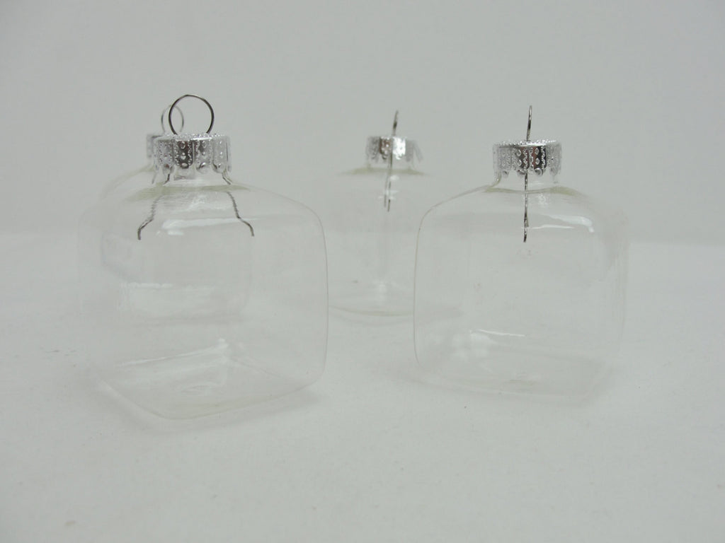 Square fillable ornaments diy set of 4 - General Crafts - Craft Supply House