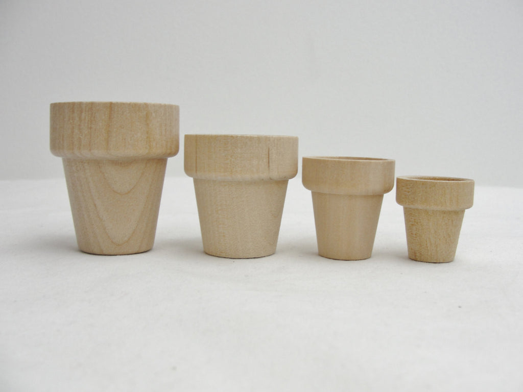 Wooden flower pot sample pack - Wood parts - Craft Supply House