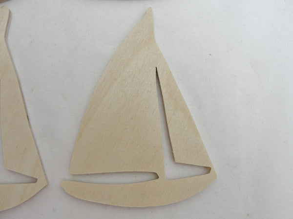 Sailboat cutouts set of 4 - Wood parts - Craft Supply House
