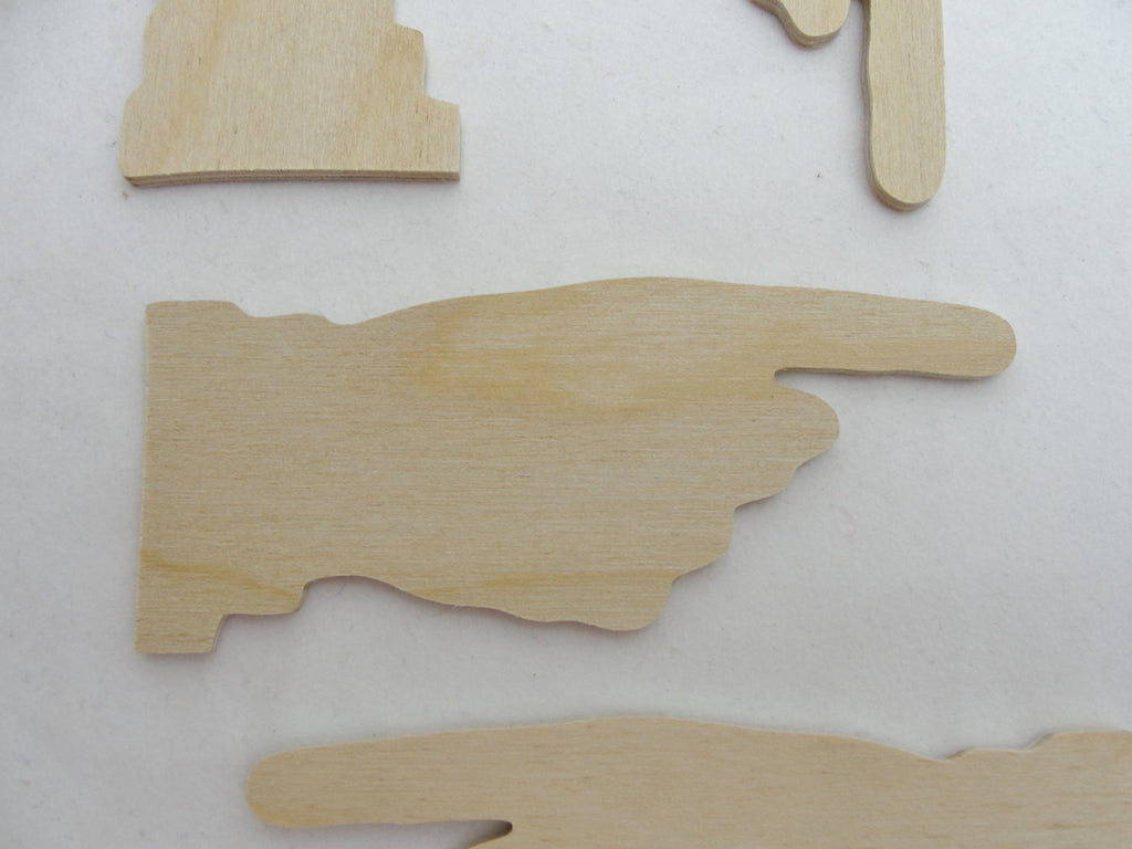Pointing finger cutouts set of 4 - Wood parts - Craft Supply House