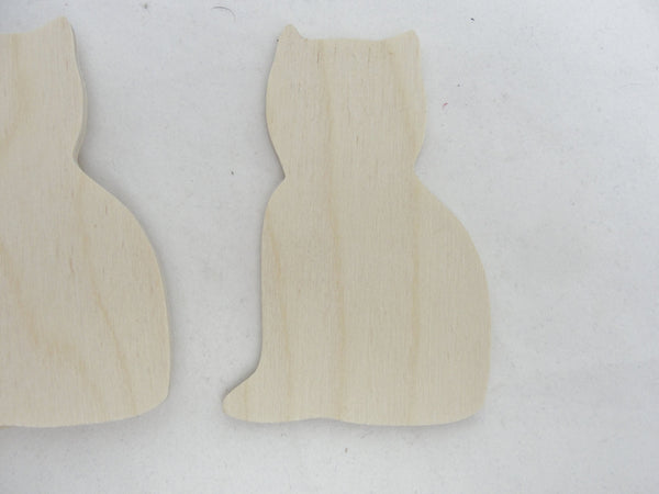 Wooden cat cutouts set of 4 - Wood parts - Craft Supply House