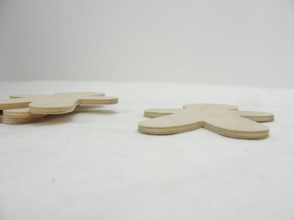 Wooden gingerbread man cutouts set of 4 - Wood parts - Craft Supply House
