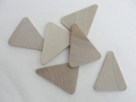 "Wooden Triangle 2"" wide x 2 1/2"" tall x 1/4"" thick unfinished DIY set of 6 - Wood parts - Craft Supply House"