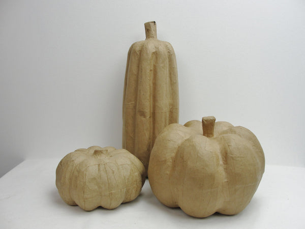 Paper mache pumpkins set of 3 - Paper Mache - Craft Supply House