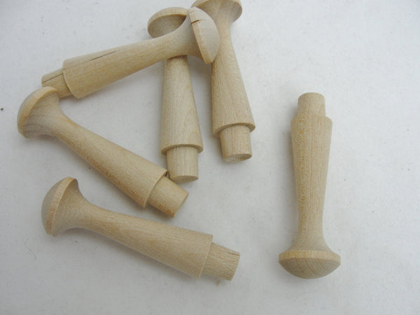 "Medium shaker pegs 2 7/16"" birch set of 6 - Wood parts - Craft Supply House"
