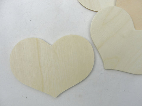 "5 wooden country hearts 3 3/8"" wide 2 1/2"" tall 1/8"" thick unfinished - Wood parts - Craft Supply House"