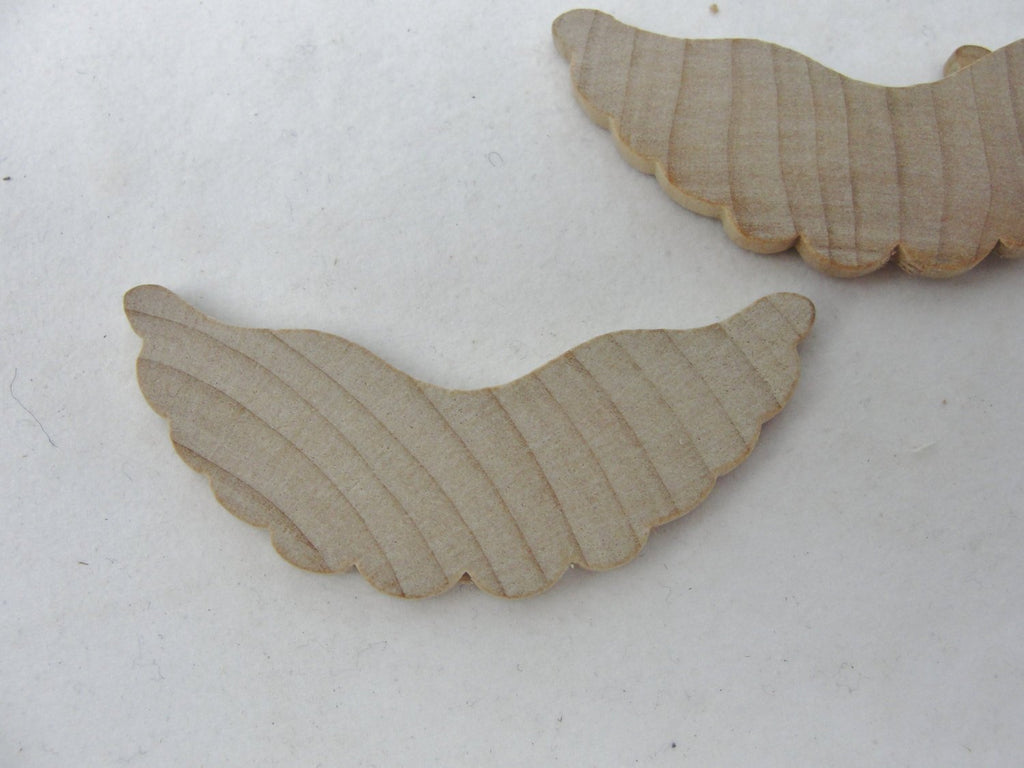 Small wooden angel wings set of 6
