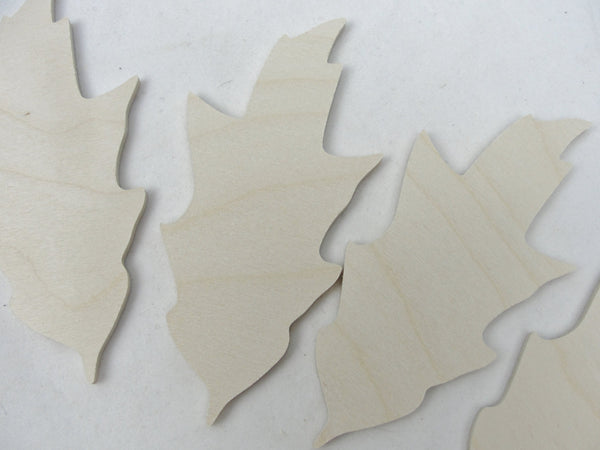Large Wooden oak leaf cutout set of 4 - Wood parts - Craft Supply House