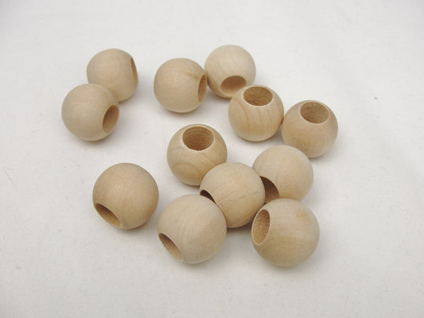 Large hole wooden bead