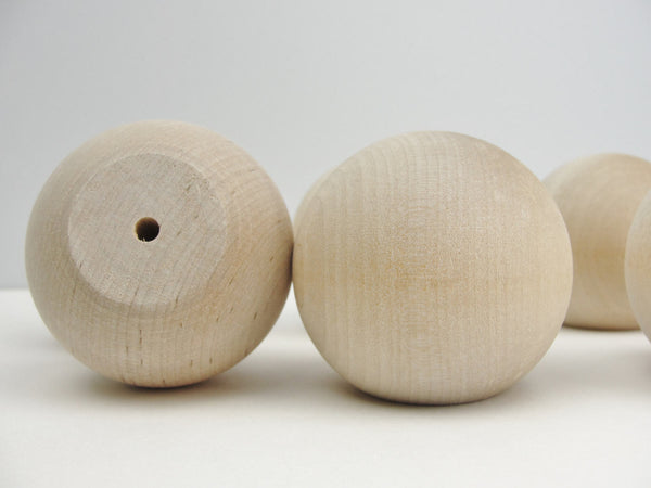 "Wooden ball knob 2 1/4"" (2.25"") solid wood set of 6 - Wood parts - Craft Supply House"