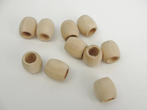 Wooden barrel bead