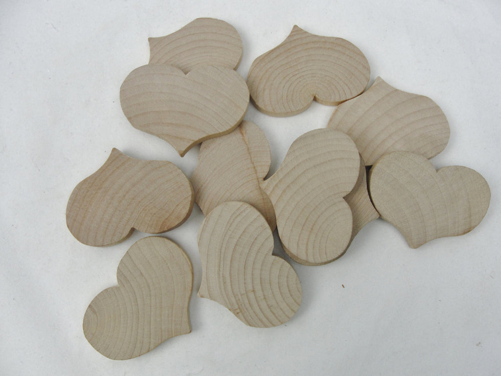 "Wooden country hearts 1 1/2"" wide 1 1/8"" tall 3/16"" thick unfinished - Wood parts - Craft Supply House"