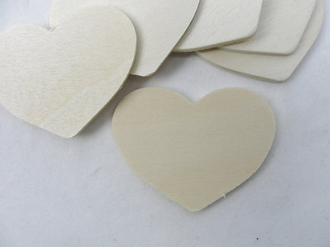 "6 wooden country hearts 2"" wide 1 1/2"" tall 1/8"" thick unfinished - Wood parts - Craft Supply House"