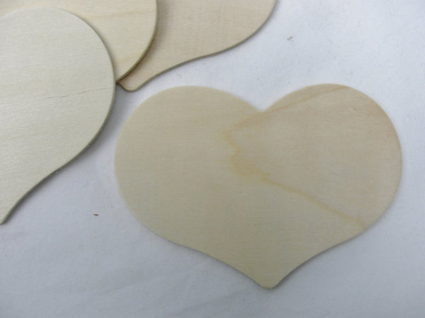 "5 wooden country hearts 4 1/2"" wide 3 1/4"" tall 1/8"" thick unfinished - Wood parts - Craft Supply House"