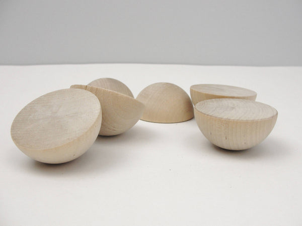 "Split wooden ball 1 3/4"" (1.75"") set of 6 - Wood parts - Craft Supply House"