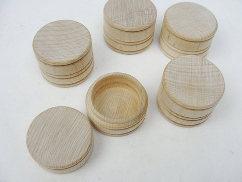 Wooden tooth fairy jar, lock of hair box, tiny keepsake box or ring box set of 5 - Wood parts - Craft Supply House